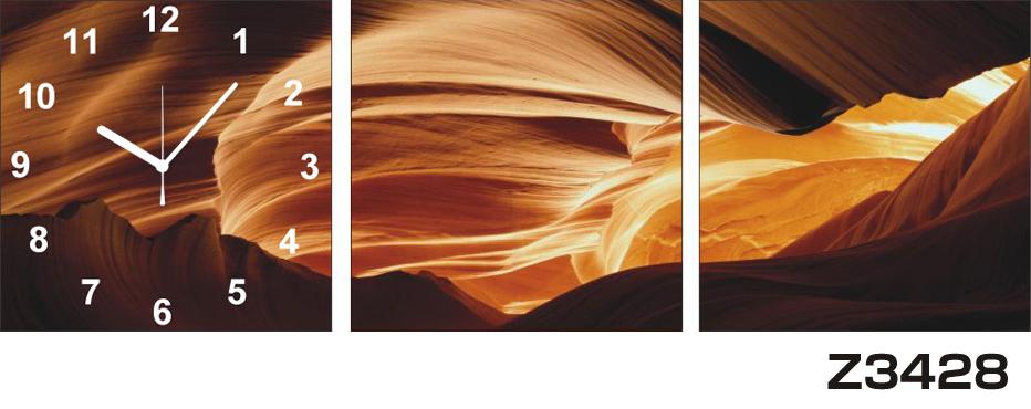 日本初!300種類以上のデザインから選ぶパネルクロック◆3枚のアートパネルの壁掛け時計◆hOur DesignZ3428【アート】【代引不可】 送料無料