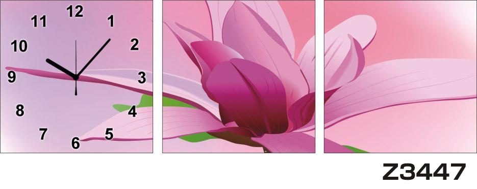 日本初!300種類以上のデザインから選ぶパネルクロック◆3枚のアートパネルの壁掛け時計◆hOur DesignZ3447【アート】【花】【代引不可】 送料無料