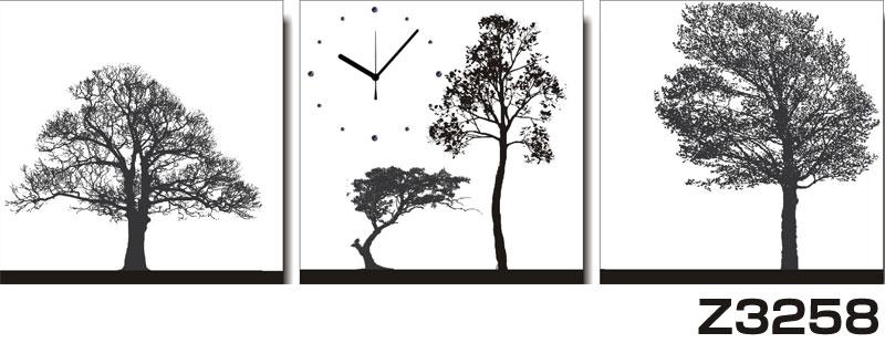 日本初!300種類以上のデザインから選ぶパネルクロック◆3枚のアートパネルの壁掛け時計◆hOur DesignZ3258【アート】【自然】【代引不可】 送料無料