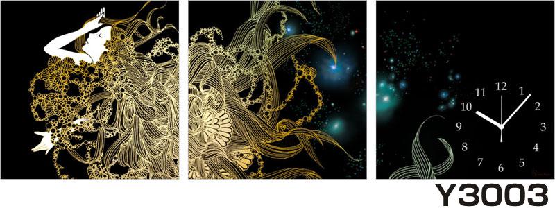 アジアデジタルアート大賞入賞者がデザインしたパネルクロック◆3枚のアートパネルの壁掛け時計◆hOur Design Y3003【Kaori Adachi】【安達香織】【代引不可】 送料無料