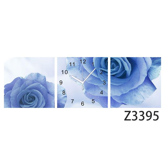 壁掛け時計 日本初!300種類以上のデザインから選ぶパネルクロック◆3枚のアートパネルの壁掛け時計◆hOur Design Z3395 【花】【代引不可】 送料無料