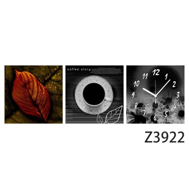 壁掛け時計 日本初!300種類以上のデザインから選ぶパネルクロック◆3枚のアートパネルの壁掛け時計◆hOur Design Z3922 【花】【自然】【アート】【代引不可】 送料無料