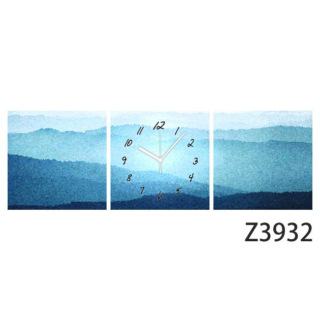 壁掛け時計 日本初!300種類以上のデザインから選ぶパネルクロック◆3枚のアートパネルの壁掛け時計◆hOur Design Z3932【風景】【イラスト】【代引不可】 送料無料