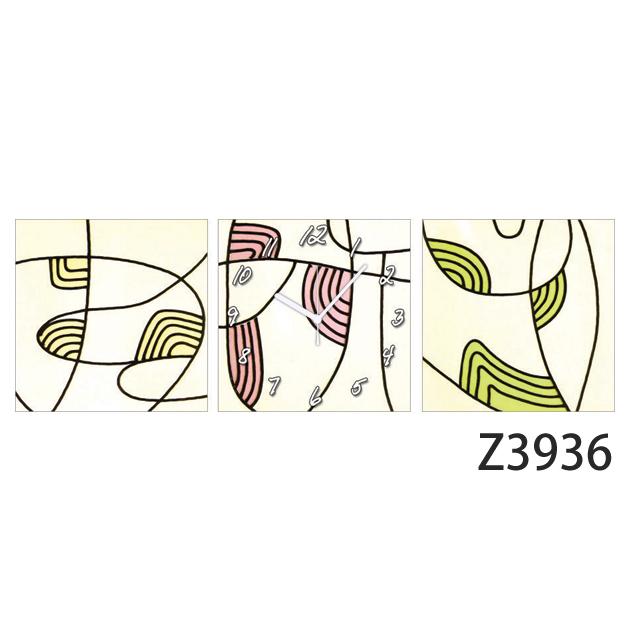 壁掛け時計 日本初!300種類以上のデザインから選ぶパネルクロック◆3枚のアートパネルの壁掛け時計◆hOur Design Z3936【イラスト】【アート】【代引不可】 送料無料
