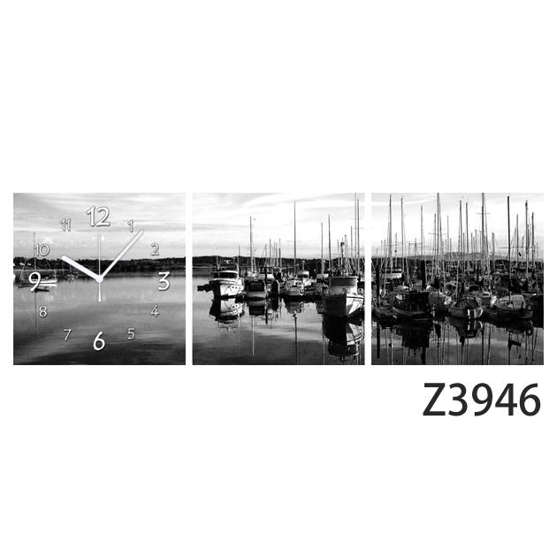 壁掛け時計 日本初!300種類以上のデザインから選ぶパネルクロック◆3枚のアートパネルの壁掛け時計◆hOur Design Z3946【風景】【アート】【代引不可】 送料無料