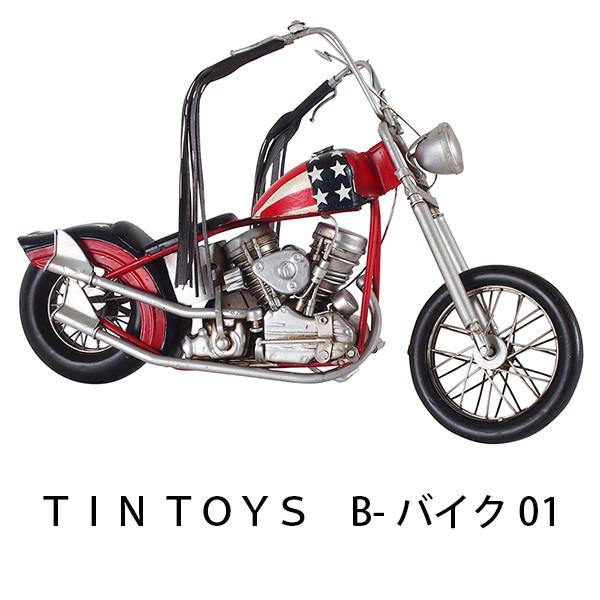 TIN TOYS B-バイク01 幅35cm ミニカー 車 おもちゃ mini インテリア小物 雑貨 置物 アンティーク