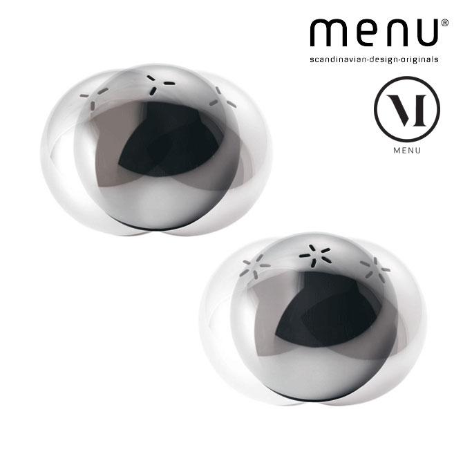北欧雑貨 menuシリーズ ソルト&ペッパー2点セット タンブラー 調味料入れ スチール ゴム キッチン雑貨 シンプル おしゃれ 北欧デザイン