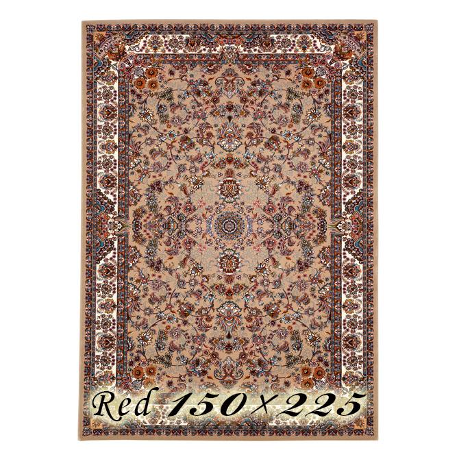 ラグ カーペット ガット 150×225cm レッド イラン製 ウィルトン織 高級 絨毯 厚手 【送料無料】【代引不可】