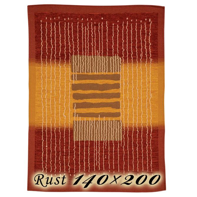 ラグ カーペット ジェレミ 140×200cm ラスト イタリア製 ゴブラン織 高級 絨毯 厚手 【送料無料】【代引不可】