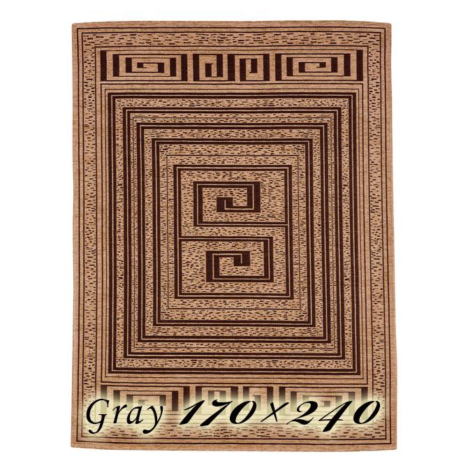 ラグ カーペット モイラ 170×240cm グレー イタリア製 ゴブラン織 高級 絨毯 厚手 【送料無料】【代引不可】