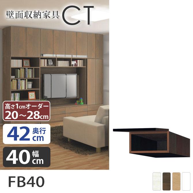 壁面収納CT 【幅40cm】 壁収納 【奥行42cm】 FB40 壁面家具 フィラーボックス リビング収納 完成品 国産 オーダー家具