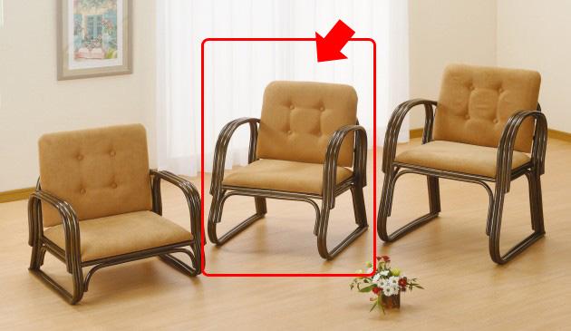 座椅子 手すり、背もたれが付いて膝にやさしい快適座椅子 ワイド便利座椅子ミドルタイプ イス・チェア 籐製 送料無料 座椅子 座イス 座いす 椅子 いす イス チェア チェアー 姿勢 腰痛 コンパクト 北欧 シンプル クッション 座布団 リラックスチェアー リビング