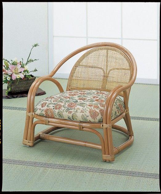 \8/8~ポイント10倍★3日間限定★/ 座椅子 正座がつらい方ピッタリです。 アームチェアーロー2脚組 イス・チェア 座椅子 籐製 送料無料 座椅子 座イス 座いす 椅子 いす イス チェア チェアー 姿勢 腰痛 コンパクト 北欧 シンプル クッション