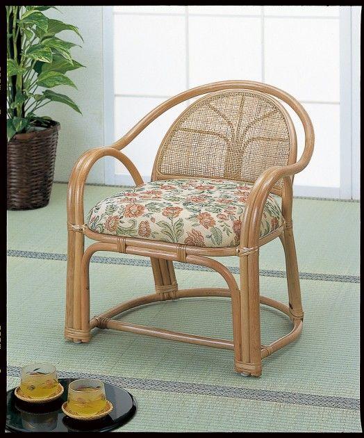 \ポイント10倍★8/15・16限定★/ 座椅子 正座がつらい方ピッタリです。 アームチェアーハイ1脚売 イス・チェア 座椅子 籐製 座椅子 座イス 座いす 椅子 いす イス チェア チェアー 姿勢 腰痛 コンパクト 北欧 シンプル クッション 座布団