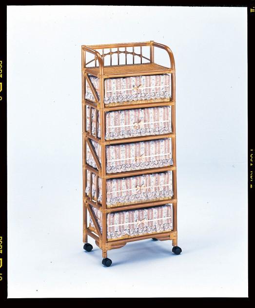 シンプルで清潔感いっぱい ランドリー5段 収納家具 ランドリーチェスト ランドリーラック 籐製 ラタン 送料無料