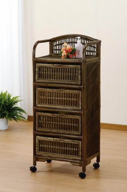 アジアン&アンティーク調のフレームデザインで心やすらぐ空間を演出。 ランドリー 収納家具 ランドリーチェスト ランドリーラック 籐製 ラタン 送料無料