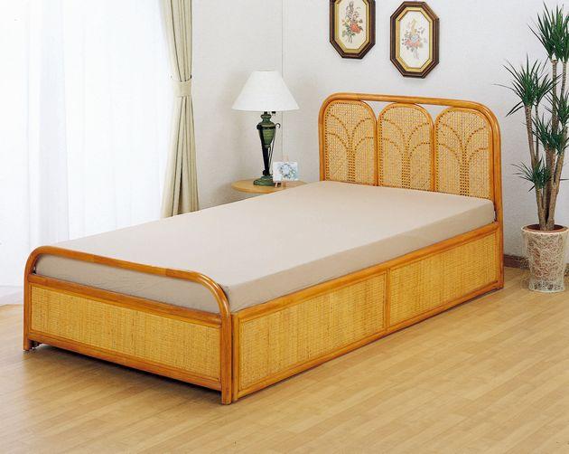 籐ベッド ダブルベッド 籐製 ラタン マットレス付き 自然素材ならではの良さが実感できます。 藤ベッド(フレーム+マットレスのセット販売)ダブル 送料無料 マットレス ダブル ダブルベッド ダブルベット ダブルサイズ