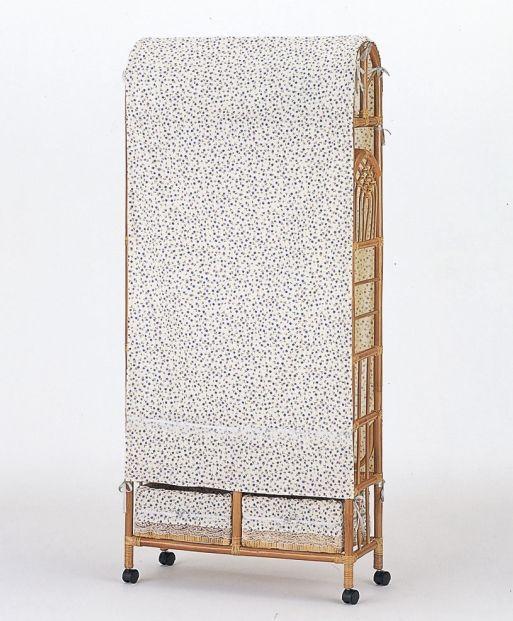 用途に合わせて幅が選べる藤製ハンガーラックシリーズです。 上棚付スリムハンガーラック 幅75cmサイズ 収納家具 玄関収納 コートハンガー 送料無料