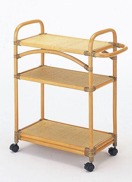 キッチンワゴン 藤ワゴン 収納家具 チェスト ランドリー用 送料無料 キッチンに天然素材のやさしさを。