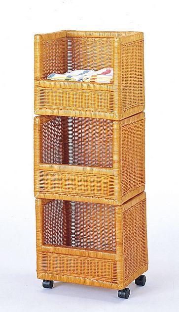 あふれて困る雑誌類を見栄えよく整理整頓 マガジンストッカー 3段タイプ 収納家具 チェスト ランドリー用 送料無料