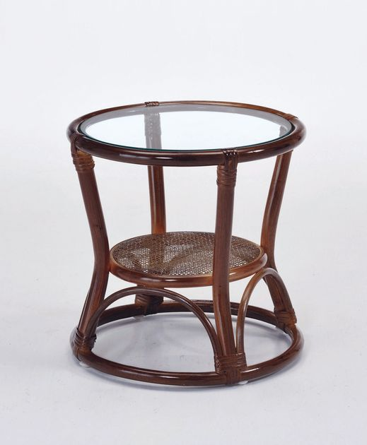 籐の丸芯をスパイラルのように絞り込んだデザインが目を引くテーブルです。 サイドテーブル 籐製 ラタン ソファサイドテーブル ソファ ソファー 北欧 シンプル ナチュラル モダン 新生活