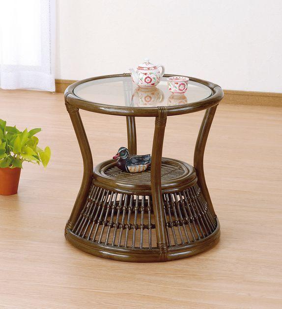 さまざまなシーンに馴染むシンプル&ナチュラルなテーブル。 サイドテーブル 籐製 ラタン ソファサイドテーブル ソファ ソファー 北欧 シンプル ナチュラル モダン 新生活
