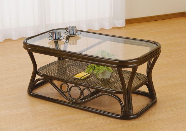 ぬくもりある自然素材で、お部屋に安らぎを演出。 テーブル 籐製 ラタン 送料無料