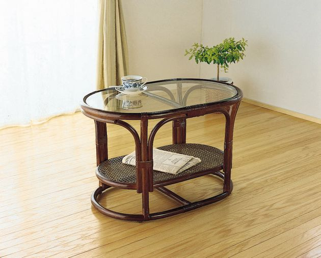 自然素材ならではのやさしいぬくもりがくつろぎのティータイムを演出します。 テーブル 籐製 ラタン 送料無料