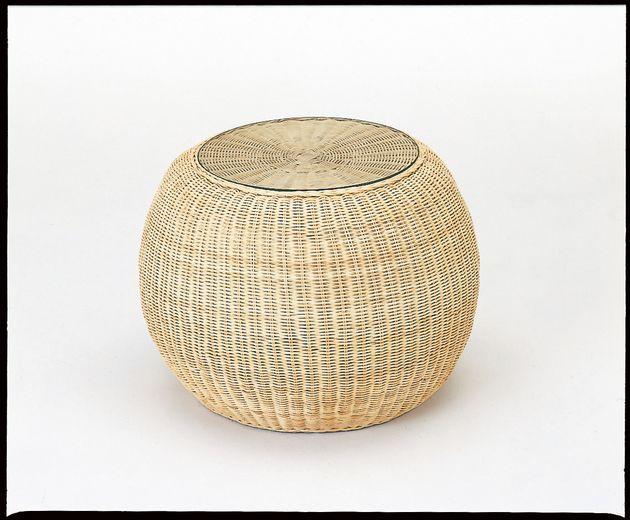 天然ナチュラル色の素材感・清涼感と美しく洗練されたデザイン。 テーブル(丸タイプ) 籐製 ラタン 送料無料