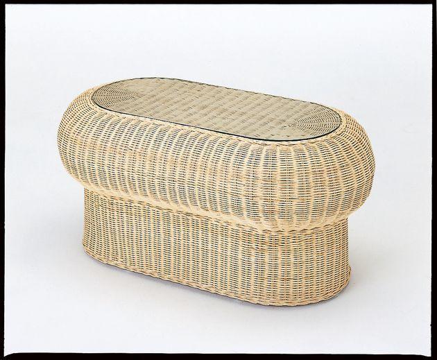 天然ナチュラル色の素材感・清涼感と美しく洗練されたデザイン。 テーブル(楕円タイプ) 籐製 ラタン 送料無料