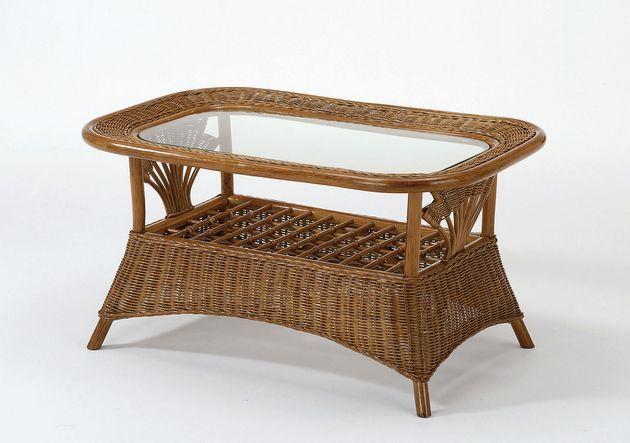 アジアンリゾートの贅沢さを存分に。籐の丸芯を1本ずつ丁寧に編み込んで作られた(籐ウィッカー編み)優雅な籐製テーブルです。 テーブル ラタン 送料無料