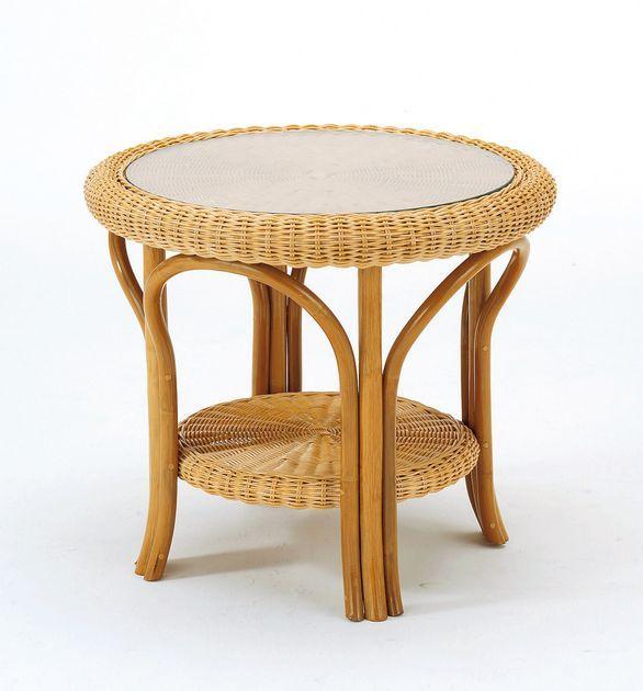 \クーポンで300円OFF★16日1:59まで★/ やわらかな曲線が優しい印象。 テーブル 籐製 ラタン 送料無料