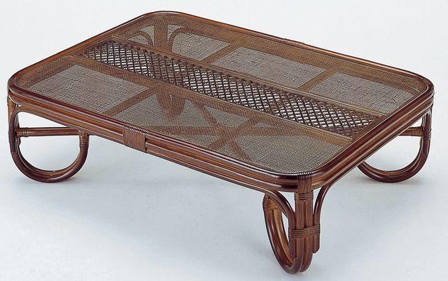座椅子 籐の座卓と座椅子で、リビングを涼しく演出。 座卓120cm テーブル 座卓 リビングテーブル ガラス天板 籐製 ラタン 送料無料 敬老の日 母の日 父の日 ギフト プレゼント 座椅子 座いす 座イス チェア チェアー フロアチェア フロアチェアー