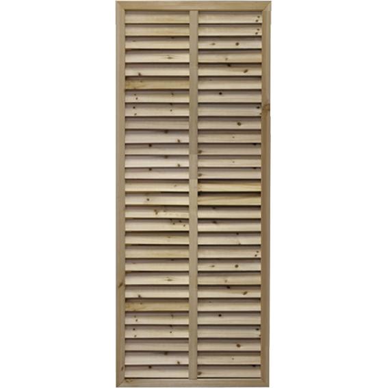 無着色ルーバーラティス 1500×600mm ラティス 目隠し フェンス 園芸 ガーデニング 無着色 天然木 ルーバー 2枚セット
