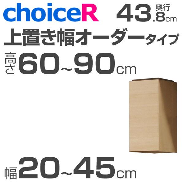 壁面収納家具 チョイスR 上置き 幅オーダータイプ 幅20-45cm 高さ60-90cm 奥行43.8cm 【受注生産】【代引不可】 壁面収納 壁収納 壁面家具 ユニット家具