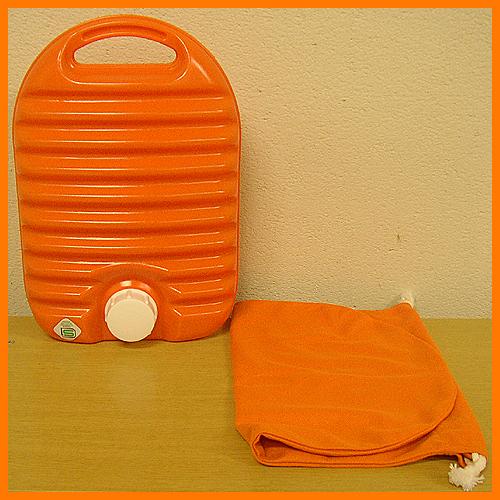 Plastic hot water bottle bag with 05P24jul13fs3gm