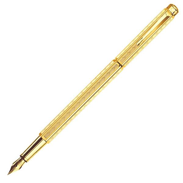 【お取り寄せ】カランダッシュ(CARAN d'ACHE) エクリドール シェブロン ゴールド 万年筆
