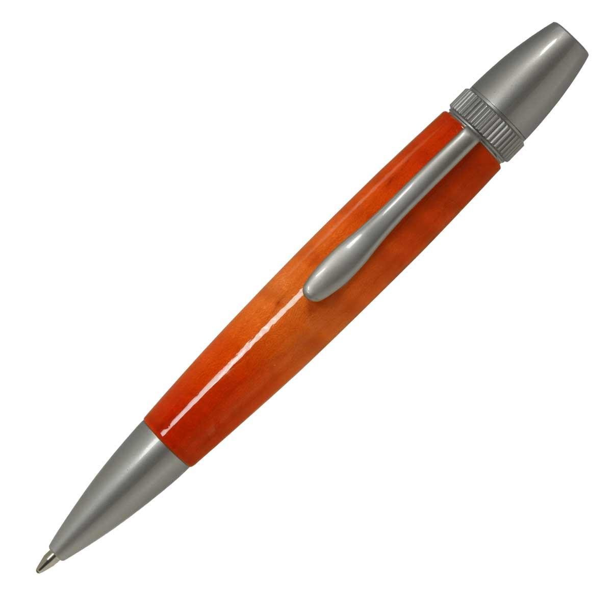 【即納可能】F-STYLE Air Brush Wood Pen エアーブラシ ウッドペン ギター塗装 ORANGE オレンジカーリーメイプル かえで 楓 ボールペン TGT1611