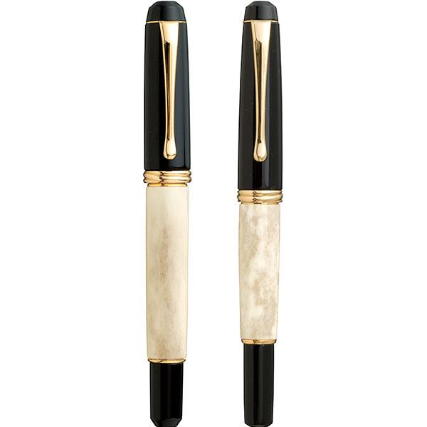 【お取り寄せ】くれ竹(Kuretake) 夢銀河 鹿角 万年毛筆&万年筆 セット