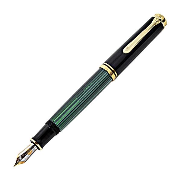 【即納可能】ペリカン(Pelikan) スーベレーン M600 グリーン縞 万年筆
