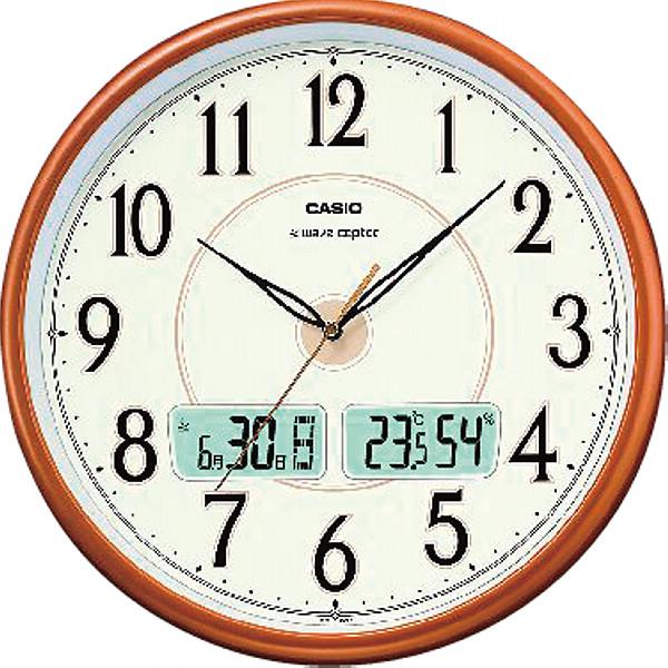 カシオ 電波掛時計 パールブラウン新築祝い 新居 結婚祝い 就職祝い お祝い 引越し 昇進 金婚式 写真入り メッセージカード ギフト (SD)