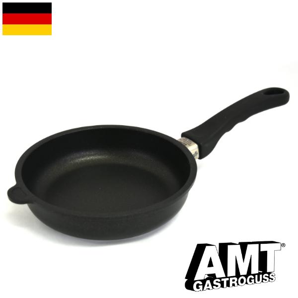 AMT フライパン 20cm ガス火用 PFOAフリー ドイツ製 5層構造 ノンスティック加工 くっつかない 高耐久性フッ素加工 ワールドベストパン インポート 料理オリンピック 鋳物 鋳造 ハンドキャストアルミニウム