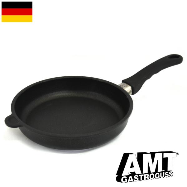 AMT フライパン 24cm ガス火用 PFOAフリー ドイツ製 5層構造 ノンスティック加工 くっつかない 高耐久性フッ素加工 ワールドベストパン インポート 料理オリンピック 鋳物 鋳造 ハンドキャストアルミニウム