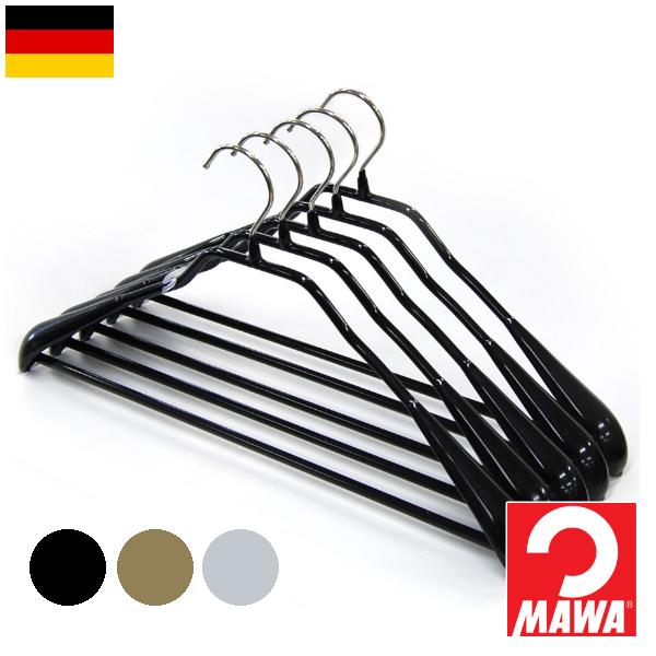 MAWA ボディーフォーム 5本組 マワハンガー すべらない ノンスリップ加工 ズボンハンガー スカートハンガー ドイツ スーツハンガー ジャケット