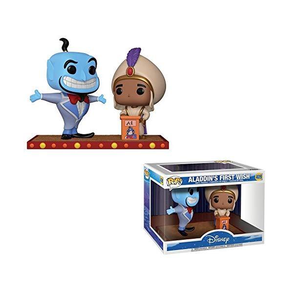 アラジン グッズ ファンコ ポップ ディズニー フィギュア ドール 人形 おもちゃ Funko Aladdin's First Wish POP! Movie Moments x Aladdin Vinyl Figure + 1 Classic Disney Trading Card Bundle [#409 / 29375]