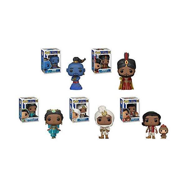 アラジン グッズ ジーニー ジャスミン アブー ジャファー アリ王子 ファンコ ポップ ディズニー フィギュア ドール 人形 おもちゃ Funko Pop!: Aladdin Live Bundle of 5: Aladdin with Abu, Prince Ali, Jasmine, Jafar and Genie