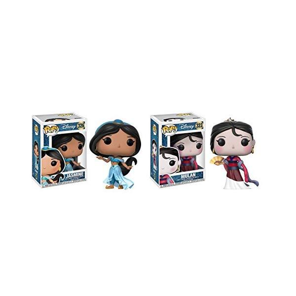 アラジン グッズ ジャスミン ムーラン セット ファンコ ポップ アクションディズニー フィギュア ドール 人形 おもちゃ Funko POP Disney Princess Jasmine and Mulan Toy Action Figure - 2 POP BUNDLE
