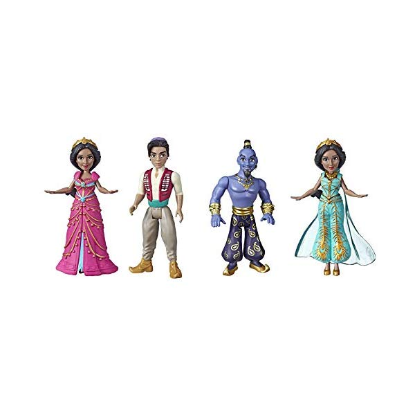 アラジン グッズ ジーニー ジャスミン ウィル・スミス 実写版 ディズニー フィギュア ドール 人形 おもちゃ Set of 4 Disney Collectible Figures Inspired by Disney's Aladdin Live-Action Movie Princess Jasmine in Pink Dress Aladdin Genie and Princess Jasmine