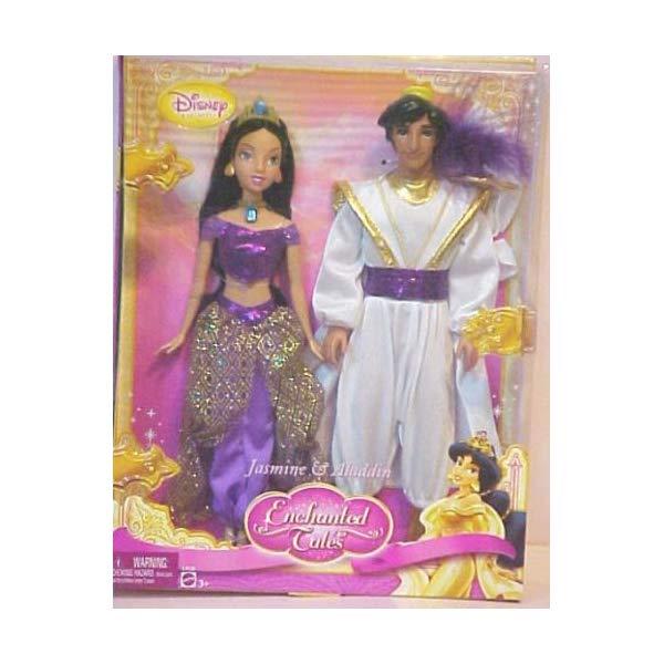 アラジン グッズ ジャスミン ディズニー フィギュア ドール 人形 おもちゃ Disney Princess Enchanted Tales Jasmine and Aladdin Gift Set