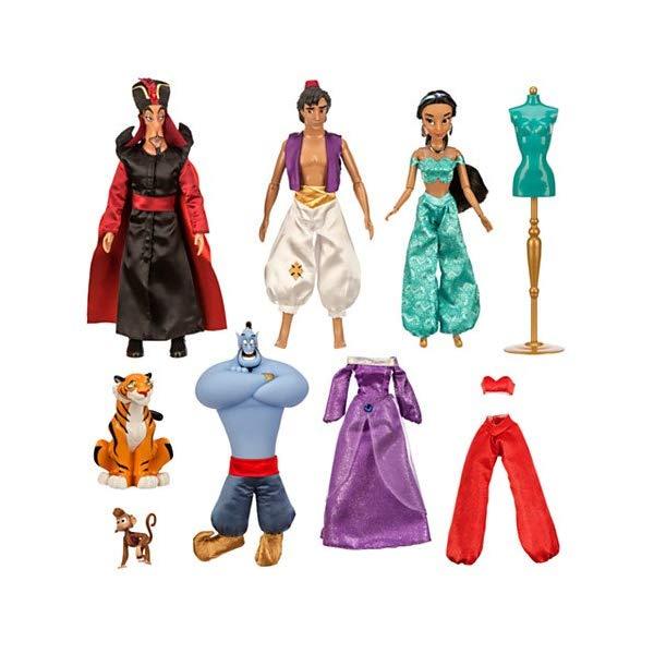 アラジン グッズ フィギュア セット ドール 人形 おもちゃ Disney Aladdin Deluxe 11'' Doll Gift Set
